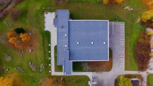 pastato fotografija su dronu
